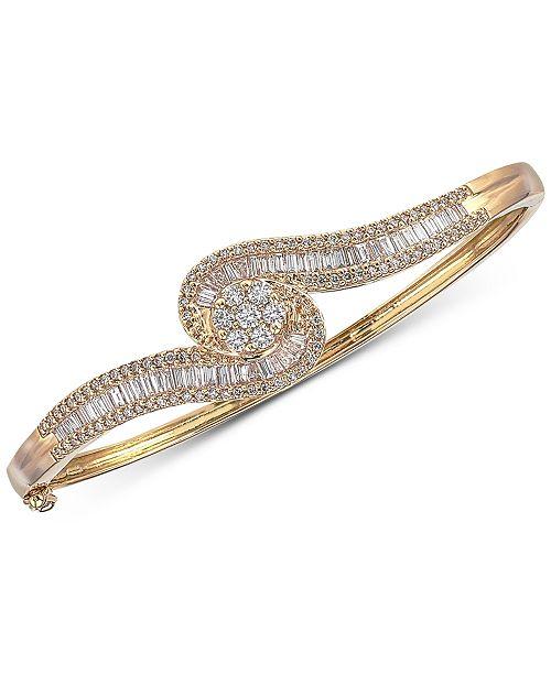 Macy's Diamond Bangle Bracelet (2 ct. t.w.) in 14k Gold