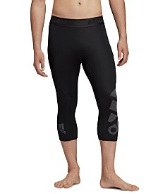 adidas Men's Alphaskin Compression Cropped Leggings