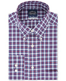Eagle Men's Classic/Regular Fit Non-Iron Stretch Collar Check Dress Shirt