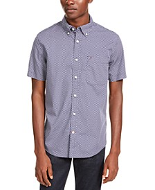 Men's Hall Custom-Fit Geo-Print Shirt