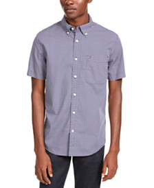Tommy Hilfiger Men's Hall Custom-Fit Geo-Print Shirt