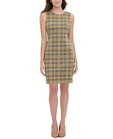 Knit Plaid Sheath Dress