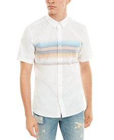 American Rag Men's Wraparound Chest Stripe Shirt, Created For Macy's