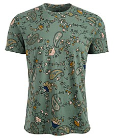 Men's Floral Paisley T-Shirt, Created For Macy's