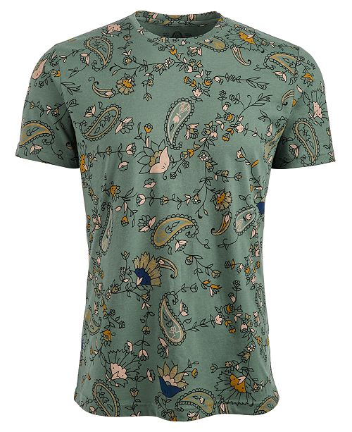 American Rag Men's Floral Paisley T-Shirt, Created For Macy's