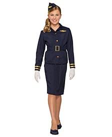 Little and Big Girl's Stewardess Child Costume