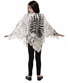 BuySeasons Girl's Skeleton Poncho Child Costume