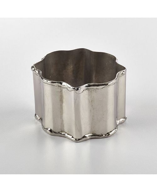 Saro Lifestyle Napkin Ring Collection Classic Design Napkin Ring, Set of 4
