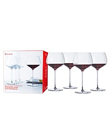 Wills Berger 25.6 Oz Burgundy Glass Set of 4