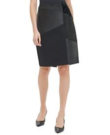 Calvin Klein Mixed-Media Pencil Skirt