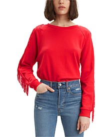 Women's Fringed Crewneck Sweatshirt