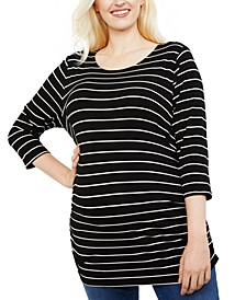Maternity Plus Size Ruched Top
