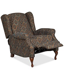 "Edda 39"" Fabric Push Through Arm Recliner"