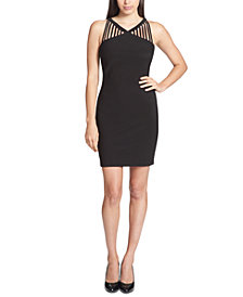GUESS Strappy-Neck Bodycon Dress