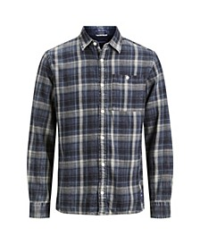Men's New Autumn Long Sleeved Check Shirt