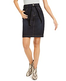 INC Curvy Paperbag Jean Skirt, Created for Macy's