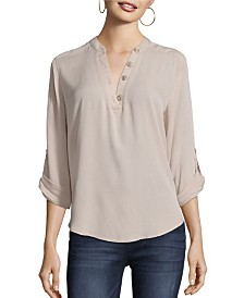 John Paul Richard Roll Tab Blouse