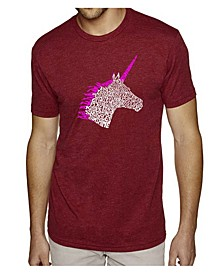 Men's Premium Word Art T-Shirt - Unicorn