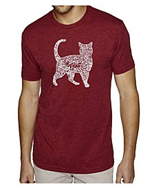 Men's Premium Word Art T-Shirt - Cat