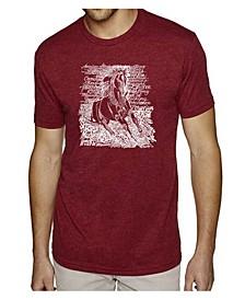 Men's Premium Word Art T-Shirt - Horse Breeds