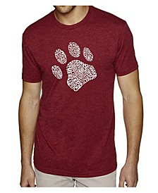 Men's Premium Word Art T-Shirt - Dog Paw