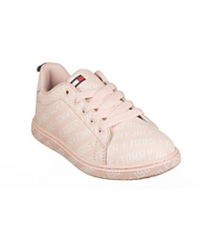 Toddler, Little and Big Girls Iconic Court Logo Sneakers