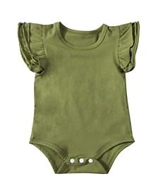 Baby Girl Flutter Sleeve Bodysuit