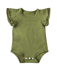 Emerson and Friends Baby Girl Flutter Sleeve Bodysuit