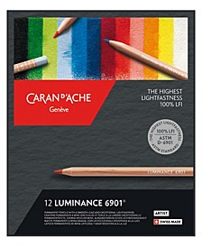 Luminance 6901, Dry Permanent Colored Pencils in Protective Box - Assortment of 12 Colors