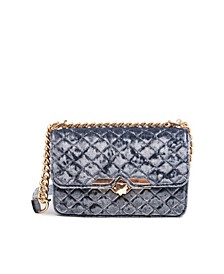 Quilted Velvet Wallet Crossbody