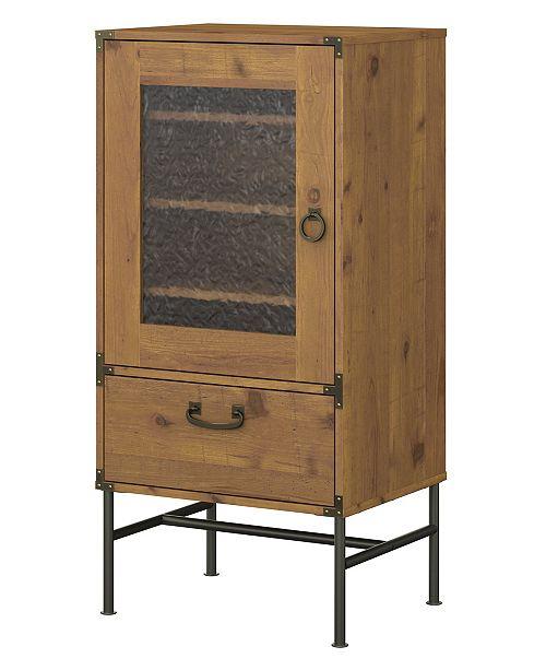 Kathy Ireland Home by Bush Furniture Ironworks Audio Storage Cabinet