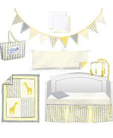 Pam Grace Creations Argyle Giraffe 10 Piece Crib Bedding Set