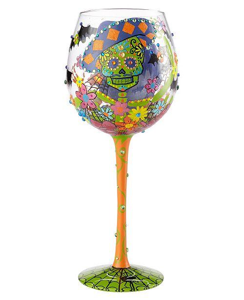 Enesco Lolita Wine Glass Bling Sugar Skulls