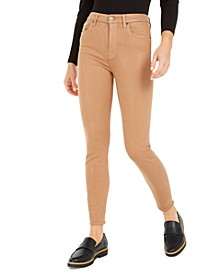 High-Waist Skinny Ankle Pants