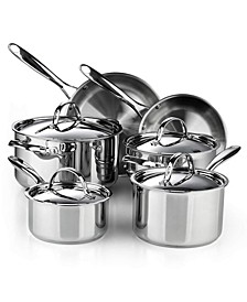 Classic 10-Piece Stainless Steel Cookware Set, Model 02631
