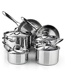 Cooks Standard 02631 Classic 10-Piece Stainless Steel Cookware Set