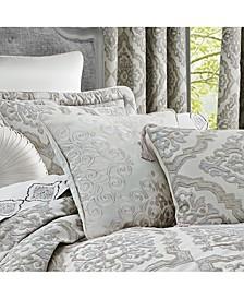 "Eleanora 18"" Square Embellished Decorative Throw Pillow"