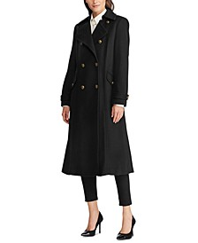 Double-Breasted Military Maxi Coat