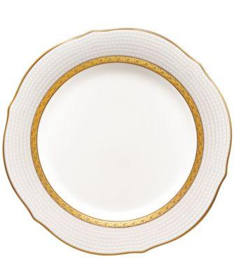 Charlotta Gold Scalloped Accent Plate