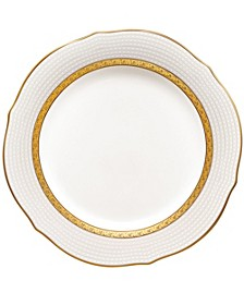Charlotta Gold Scalloped Accent Plate