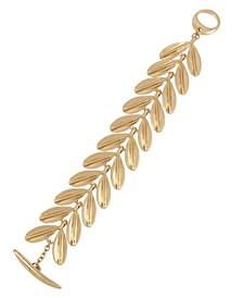 Sculptural Leaf Link Bracelet