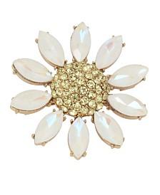 Betsey Johnson Pave Daisy Flower Pin