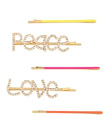 "BCBGeneration Festival ""Peace"" & ""Love"" Hair Pin Set"
