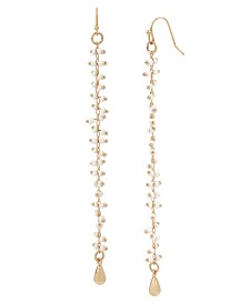 BCBGeneration White Seed Bead Linear Earrings