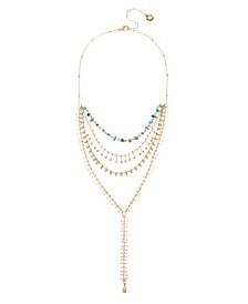 Mixed Layered Y-Shaped Necklace