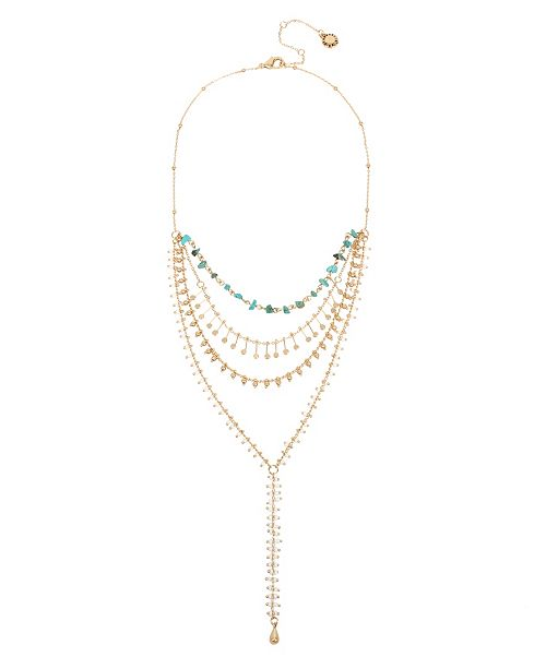 BCBGeneration Mixed Layered Y-Shaped Necklace