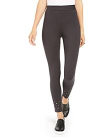 Studded-Hem Leggings, Created For Macy's