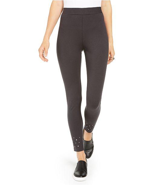Style & Co Studded-Hem Leggings, Created For Macy's