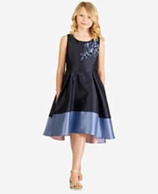 Bonnie Jean Big Girls Embellished Colorblocked Dress