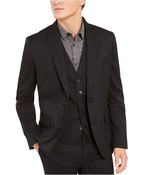INC International Concepts INC Men's Slim-Fit Stretch Twill Blazer, Created for Macy's
